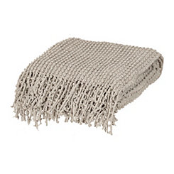 Elmira Gray Knit Throw Blanket