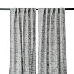 Embossed Gray Gate Curtain Panel Set, 108 in.