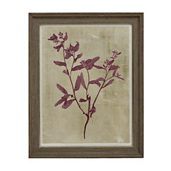 Purple Botanical Silhouette Framed Art Print
