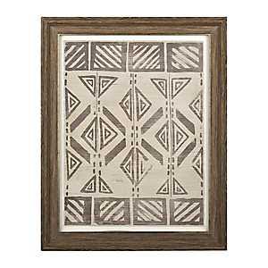 Mud Cloth Framed Art Print