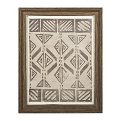Mud Cloth Framed Art Print