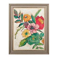 Multi-Colored Florals I Framed Art Print