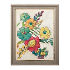 Multi-Colored Florals II Framed Art Print