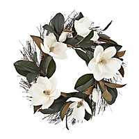 White Magnolia Wreath