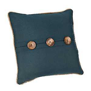 Katherine Navy Button Pillow