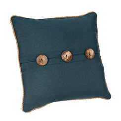 Katherine Navy Button Pillow
