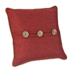Katherine Red Button Pillow