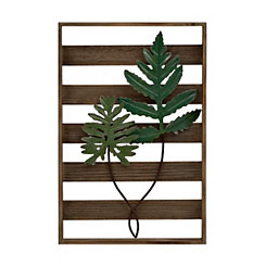 Fronds on Pallet Wall Plaque
