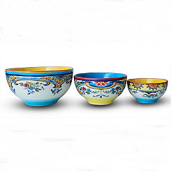 Zanzibar Mixing Bowls, Set of 3
