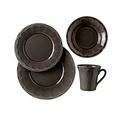 Naperon Dark Taupe 16-pc. Dinnerware Set