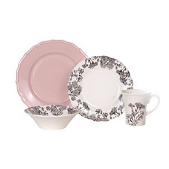 Savanna Floral Pink 16-pc. Dinnerware Set