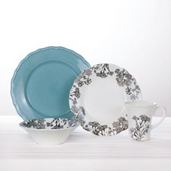 Savanna Floral Blue 16-pc. Dinnerware Set