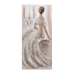 Bridal Gaze Canvas Art Print