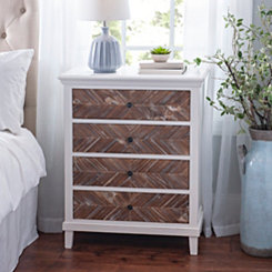 Chevron 4-Drawer Wood Chest