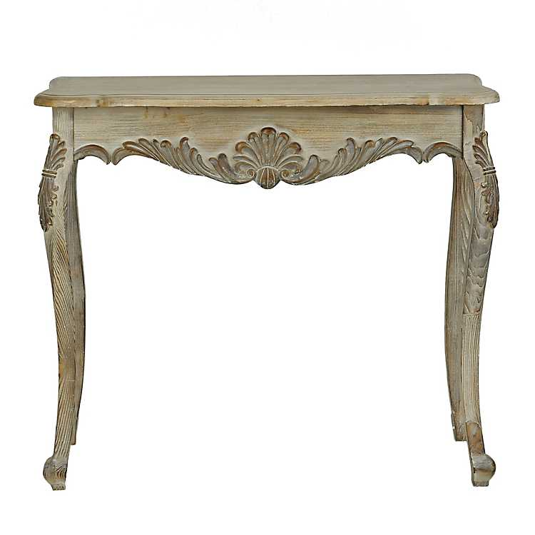 Natural wood console table kirklands for Sofa table kirklands