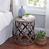 Quatrefoil Wood Accent Table