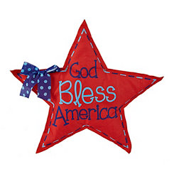 God Bless America Burlap Star
