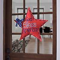 God Bless America Burlap Star
