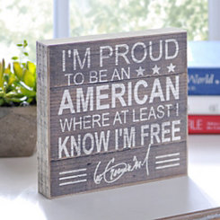 Proud American Word Block