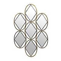 Geometric Gold and Silver Diamonds Mirror