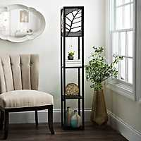 Amber Leaf Shelf Floor Lamp