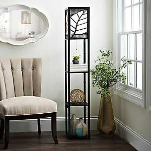 Amber Leaf Shelf Floor Lamp