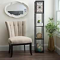 Camille Scroll Shelf Floor Lamp