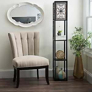 Camille Scroll Shelf Floor Lamp