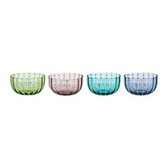 Multicolor Dot Bowls, Set of 4