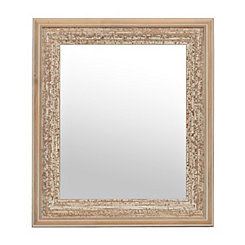 Rustic Natural Distressed Wood Mirror