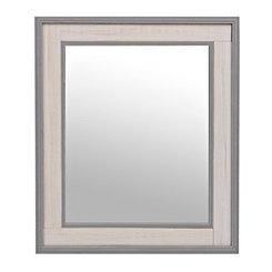 Rustic Gray and White Wood Mirror