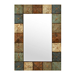 Rustic Pyramid Wall Mirror