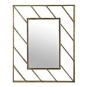 Linear Lines Metal Wall Mirror