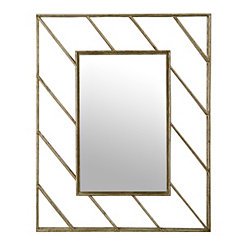 Linear Lines Metal Wall Mirror
