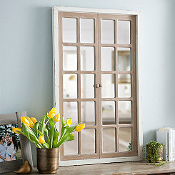 Farmhouse Paned Window Mirror