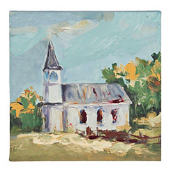 Comfort Church Canvas Art Print