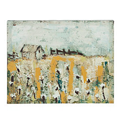 Cotton Farm Canvas Art Print