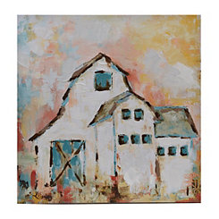 Morning's Glory Barn Framed Canvas Art Print