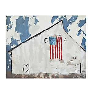Patriotic Barn Canvas Art Print