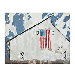 Patriotic Barn Canvas Art Print