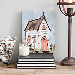 Rustic Church I Canvas Art Print