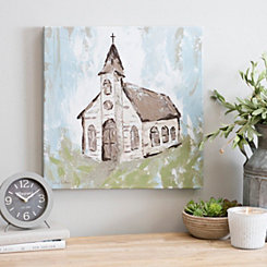 Rustic Church II Canvas Art Print