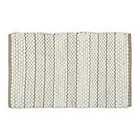 Verona Gray Stripe Bath Mat