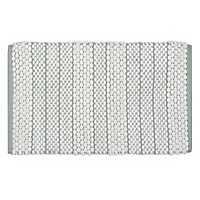 Verona Blue Stripe Bath Mat