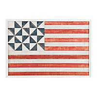 Flag Quilt Wooden Wall Plaque