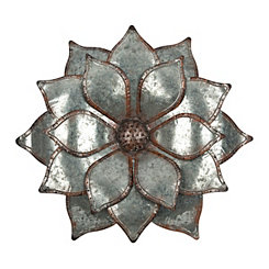 Galvanized Flower Wall Plaque