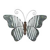 Corrugated Metal Butterfly Wall Plaque