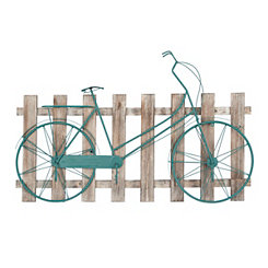 Picket Fence Bicycle Wall Plaque