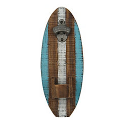 Distressed Surfboard Bottle Opener
