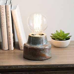 Coral Ceramic Glaze Edison Bulb Uplight